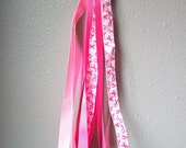Sale**inventory reduction. 6 Breast cancer lanyard pink awareness ribbon, gift for co-workers, Christmas, secret Santa games, Christmas gift