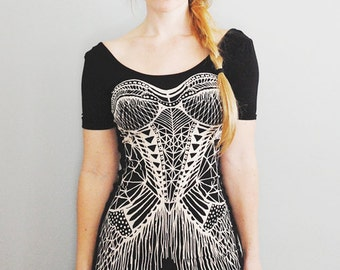 Simka Mini U-Back Dress - Hand printed mini dress - Bodycon - by Simka Sol
