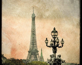The Angels of the Eiffel Tower - Fine Art Print - From Paris With Love - Romantic City - TFTeam - Paris Photography