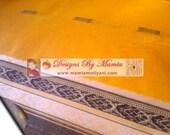 Yellow Cotton Sari Fabric, Indian Saree, Designer Saree, Indian Saree Fabric, Ethnic Fabric, Indian Fabrics, Indian Print Fabric, New Saris