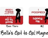 Dog Magnet, Let the Dog Out, Potty, Bella's Got To Go! Magnets - Did the dog go to the bathroom?, Pit Bull, Rottweiler, Boxer, Great Dane