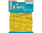 3m Ribbon Trim Yellow Tape Measure - Papermania Sew Lovely Measuring Tape Printed Ribbon Trimming - Tape Measure Print Ribbon