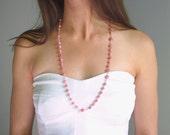 Heart Chakra Prayer Necklace, Meditation Beads in Rhodochrosite Gemstones & Sterling Silver or 14k Gold Filled