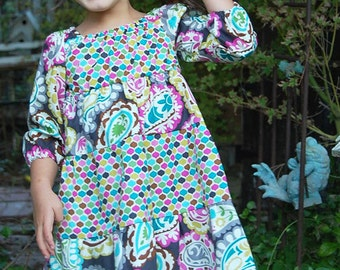 INSTANT DOWNLOAD- Jessi Dress (Sizes 6/12 months to 8) PDF Sewing Pattern and Tutorial