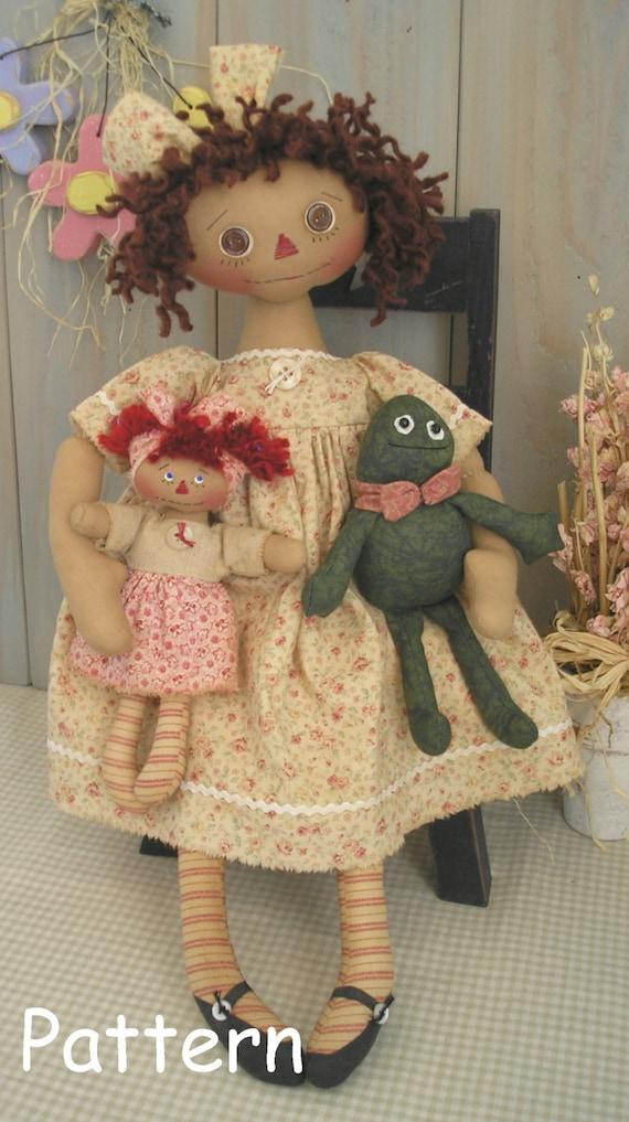 Pdf E Pattern 20 Primitive Raggedy Ann Doll Frog Mini