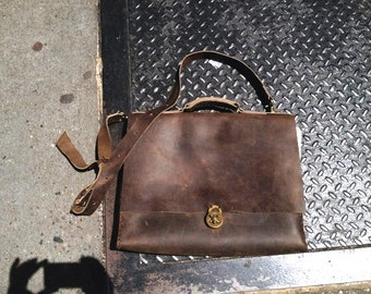 Mens leather satchel | Etsy