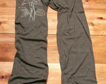 in full bloom Lily Yoga Pants, Lounge Pants, Flower Pants