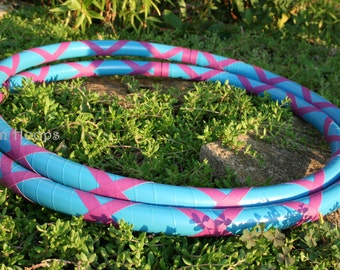Featherweight hoop - CrissCross Grip BUDGET hula hoop - Collapsible - ADVANCED adult or kids