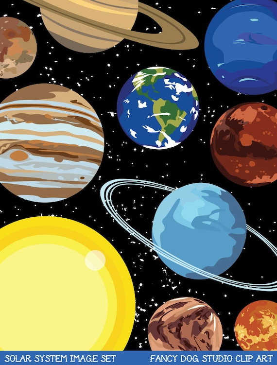 Pluto The Dog In Space Solar System Art Outer...