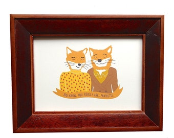 Fantastic Mr Fox, Wes Anderson print, Mr. and Mrs. Fox print