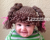 Cabbage Patch Kids - Doll Hair Wig Hat - infant Baby Toddler kids sizes - 3 6 9 12 months 2T 3T