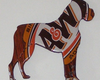 Boxer Dog Magnet - A&W Root Beer Soda Can (Replica)