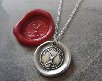 wax seal necklace Always Fun - antique wax seal jewelry in silver