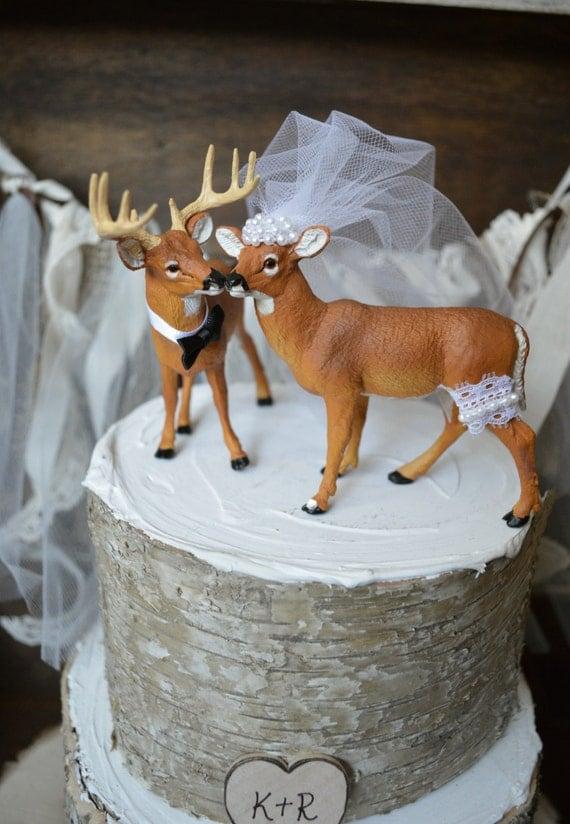Buck And Doe Wedding Cake Topper Deer Hunting