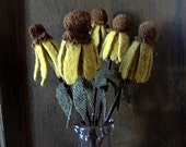 primitive black eyed susan bouquet