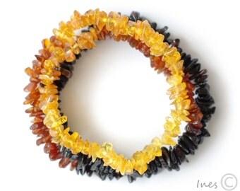 Raw Polished Baltic Amber Rainbow Necklace