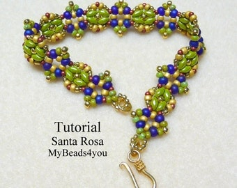Beading Pattern, Beadwork Bracelet Pattern,Beadweaving Tutorial,Jewelry Making Beading Pattern,Seed Bead Tutorial,Beading Instructions