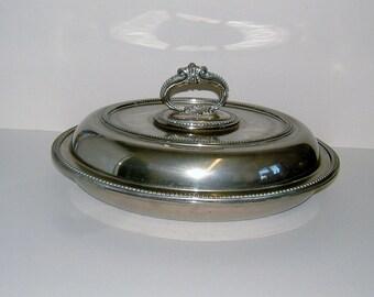 Edwardian EPNS Silver Plate Tureen by Walker & Hall Vintage Serving Vintage Kitchen Vintage Table Vintage Housewares Vintage Platter