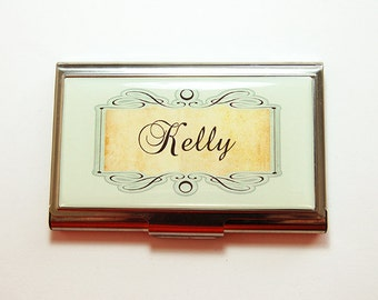 Personalized Business Card Case, card case, Custom Case, Personalized, business card holder, personalized gift, stainless steel case (4129)