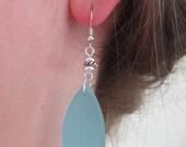 SALE - Ocean Blue Sea Velvet Earrings - Recycled Glass, Sea Velvet, Ocean, Sustainable,  For Her,  Gift For Her,  Birthday,  For Mom,  Gift