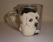 Custom Made, Hand Painted Pet Coffee Mug, Using your photos! custom pet portrait
