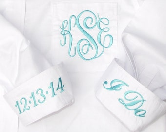 Bride's Shirt for wedding day - coordinates with blue wedding theme