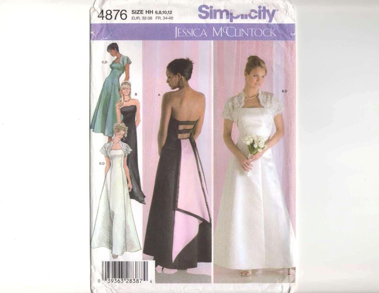 Backless Wedding Gown Designer Jessica McClintock Evening