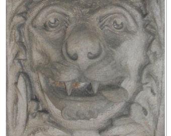 Monastery Lion Gargoyle Photo