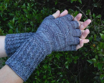 Knit Texting Gloves Fingerless Mitts Winter Handwarmers