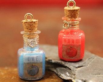 Bioshock Inspired Adam & Eve Bottle Pendants