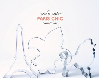 Paris Chic Cookie Cutter Collection Set - 3 piece - Fashion - French - Travel - Custom - Cookies