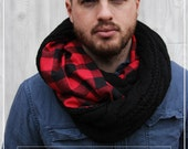 READY TO SHIP - The Urban Lumberjack -Gifts For Him Men's Accessories, For Him, Men's Scarves, Men's scarves