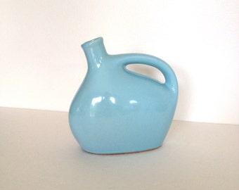 Pottery Jug - Vintage 1930's Mohawk Liquor Jug - Pottery Bottle - Mohawk Stoneware Jug - Sky Blue Pottery Jug