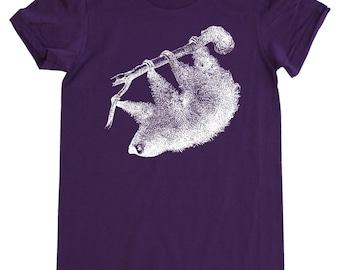 Sloth T Shirt, Women's American Apparel Fine Jersey Short Sleeve Tee
