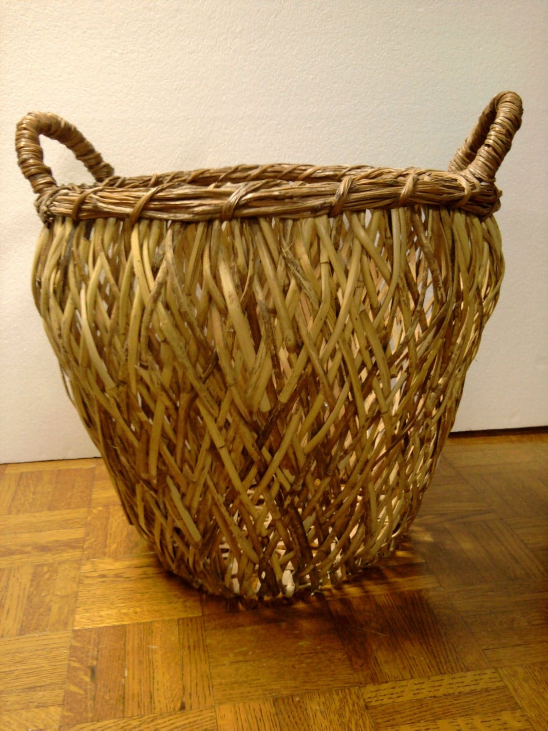Extra Large Philippines Rattan Basket By Tradewindsfolkart