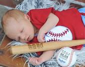 Personalized Baseball Bat Birth Announcement Baby Boys Gift Engraved Baseball Custom Baseball Sports Nursery Typography Monogrammed Baseball