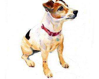 Custom Pet Portrait - Original Art - 11x14inches-Watercolor Painting - Art - Dogs