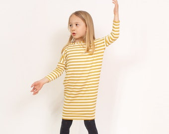 NEW Zanna tunic/dress knit pattern for girls - easy girls knit dress patterns pdf - from 3T to 9/10 years - INSTANT DOWNLOAD