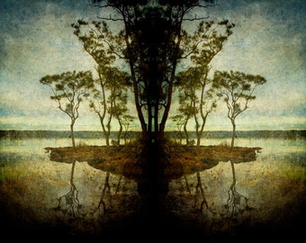 Epiphany Isle 8.5 x 11 inch Original Fine Art Photography Print, landscape, nature, canvas, painting, Australia, countryside, water, island