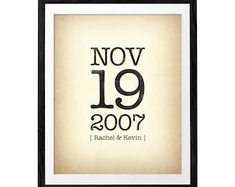 Personalized Custom Anniversary print Personalized anniversary poster customized wedding anniversary print custom anniversary print