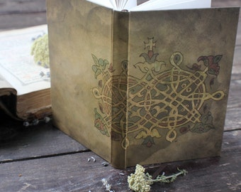 "SMALL hand bound journal, handmade notebook, personal diary, antique journal diary in Byzantine style: ""Byzantine elegance"""