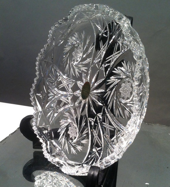 Vintage Bleikristall German Lead Crystal Dish By