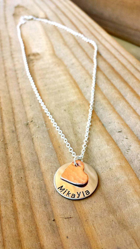 child s name necklace name necklace necklace by lamerlove