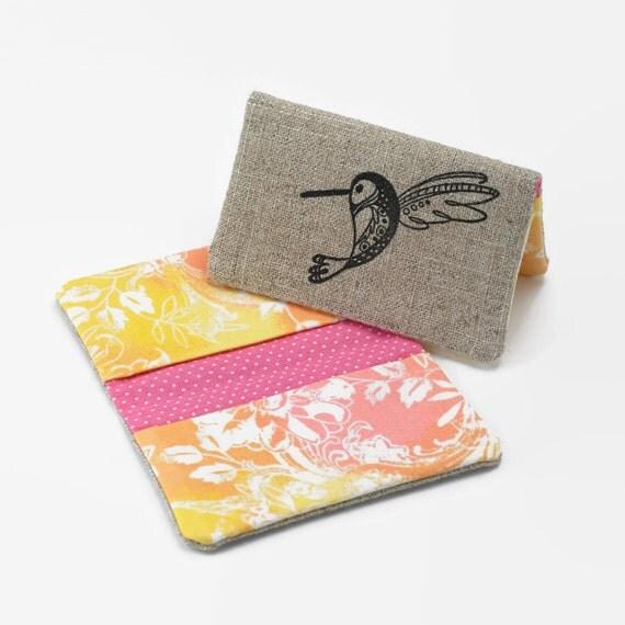 Womens bifold wallet business card holder credit card case for Women business card holder
