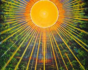 Sun Dance Radiant Creative Energy Abstract Acrylic Painting