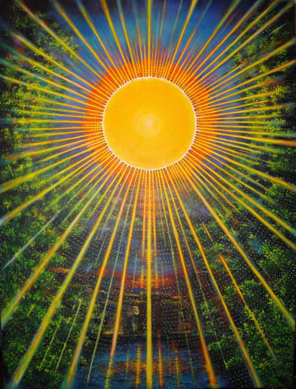 Sun dance radiant creative energy abstract acrylic painting for Radiant plexiglass