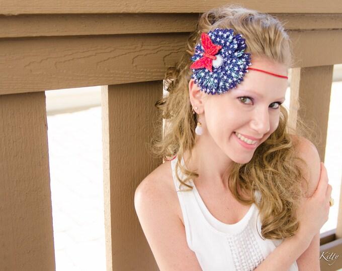 Patriotic Daisy Flower Crown