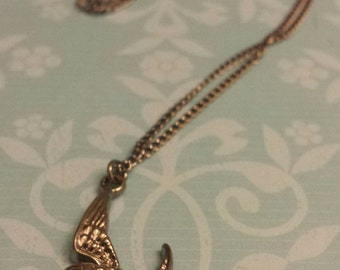 Sale! Small Bird charm necklace