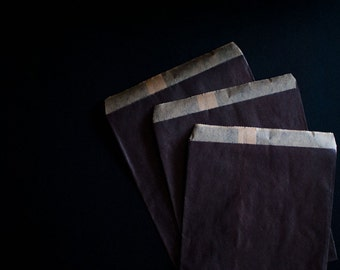 25 Black Kraft Paper Bags - Party Favor, Wedding Favor, Baby Shower Favor.
