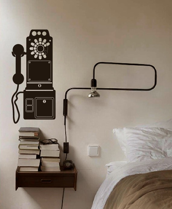 Old Phone Wall Decal Home Office Decor By Newpoint On Etsy
